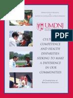 Competence and Health Disparities-umdnj