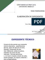 Elaboración de Exp Tecnicos