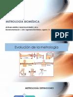 Metrología Biomédica Bioinstrumentación I