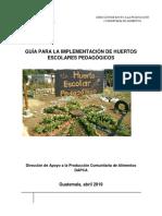 Guía Técnica de Huertos Escolares Pedagógicos Dapca 2019