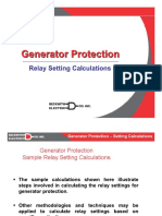 Generator Protection Settings Calculations