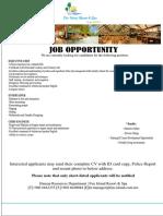 Job Advertisement -September 2019