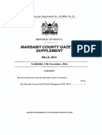 Marsabit County Solid Waste Management Bill 2014