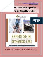 Role of the Orthopedic Centre in South Delhi