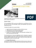 Choosing the Right Executor