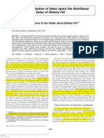 History of Recommendations to the Public About Dietary Fat1