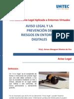Aviso Legal y La Prevención de Riesgos en Entronos Digitales