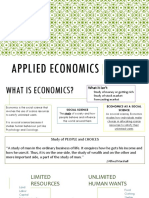 Applied Economics Introduction