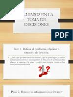 5.1.2 Pasos en La Toma de Decisiones