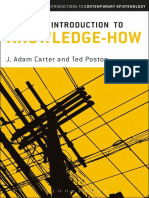(Bloomsbury Critical Introductions to Contemporary Epistemology Ser.) Carter, J. Adam_ Poston, Ted - A Critical Introduction to Knowledge-How (2018)