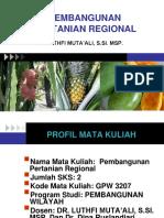 Pertemuan1 Pertanian Regional