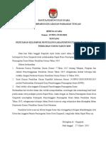 BA PPS Penetapan KPPS Pemilu 2019