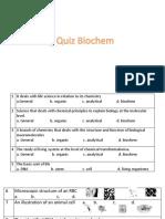 Biochem Quiz 1 Intro Cell