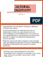 Chapter 1 - Lesson 3 (Culture Sensitivity)