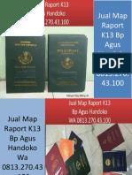 WA 0813.270.43.100, Jual Sampul Raport Kurikulum 2013 di Rantau Prapat Sumatra Utara