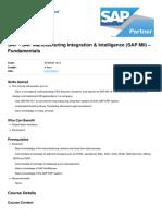 Sap Manufacturing Integration and Intelligence Sap Mii Fundamentals