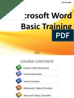 Basic Training on Microsoft Office