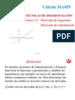 2.1 Derivada de funciones logarítmicas y exponenciales (1).ppt