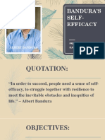 Banduras Self Efficacy Report