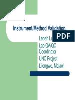 Lilongwe Instrument-method Validation - Lugalia