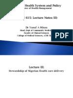 Basic principles of health system (stewardship)