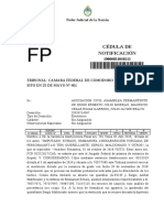 Notificación a La APDH caso Maldonado a Casación