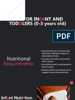 Diet for Infant and Toddlers