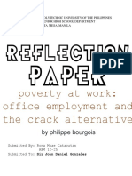 REACTIONPaper(Poverty at Work, Office employment and the crack alternative).docx