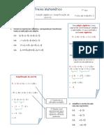 Adição algébrica. Simplificação da escrita. T3_7.º ano