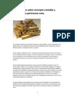 Caso Práctico Sobre Concepto Contable y Mercantil de Patrimonio Neto