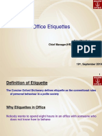 Office Etiquitte one should know