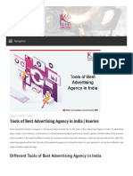Tools of Best Advertising Agency in India