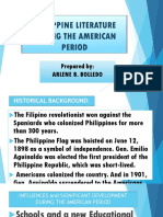Philippine Literature During the American Period