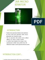 Nuclear Micro Generators