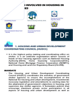Agencies Involved in Housing in the Philippines