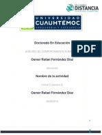 Osmar Rafael Fernandez Diaz- Actividad 2.3 Cuadro y Análisis La Presentación de La Persona en La Vida Cotidiana