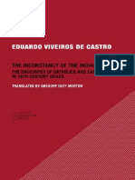 Viveiros de Castro the Inconstancy of the Indian Soul the Encounter of Catholics and Cannibals in 16century Brazil 1