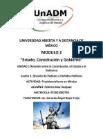 Actividad 1. Presidencialismo en México