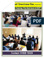 Dr Mynampati Sreenivasa Rao s Industry Setup Training-next Level of Edp