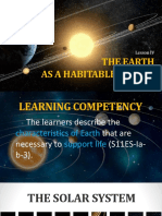 Earth as a Habitable Planet