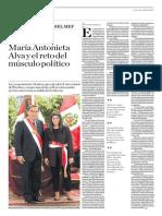 María Antonieta Alva y El Reto Del Músculo Político