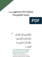 Managemen Diri Dalam Prespektif Islam