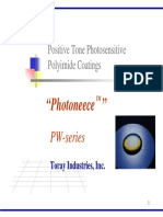 Positive Tone Photosensitive Polyimide Coating