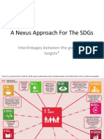 A Nexus Approach for the SDGs Interlinkages Between the Goals And