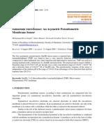 Samarium Micro Sensor an Asymetric Potentiometric