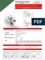 BC FT 004, 01201415 Sanitario Redondo Piana 6 Litros Push