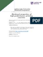 Hardened Properties of HPPC