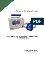 Manual de Operación y Servicio VENTILADOR OXIMAG