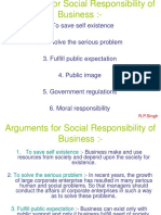 Arguments in Social Responsibility of Business