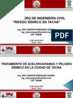 Tratamiento de Acelerogramas y Peligro Sísmico en La Ciudad de Tacna - Ing. Erly Marvin Enriquez Quispe